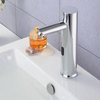Lavatory Bathroom Touch Free Automatic Sensor Faucet Chrome Basin Mixer Tap